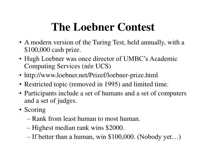 The Loebner Contest