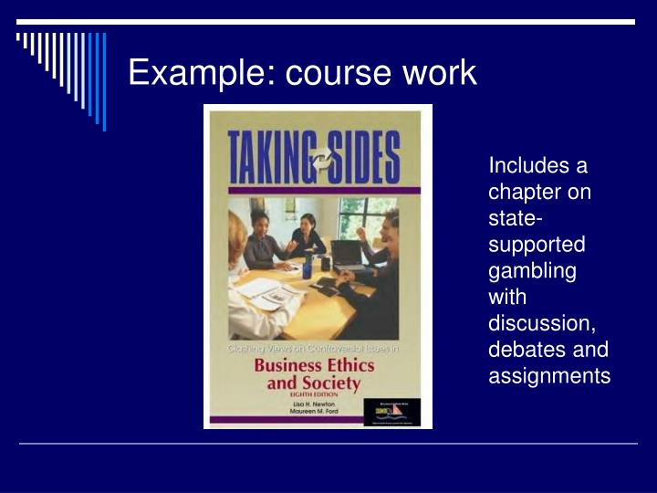 Example: course work