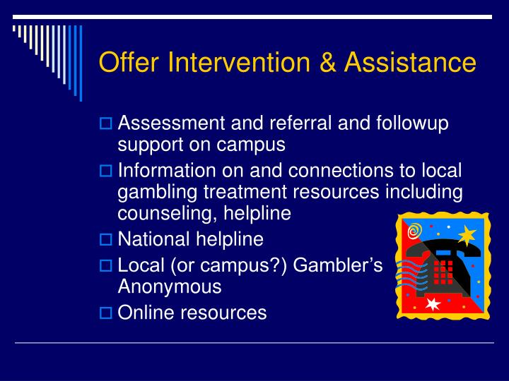 Offer Intervention & Assistance