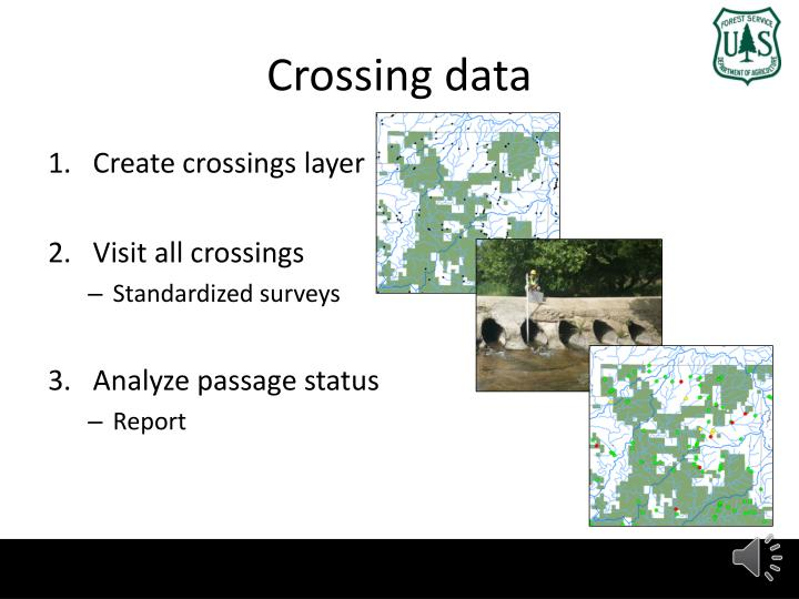 Crossing data