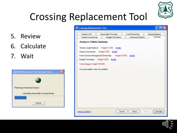 Crossing Replacement Tool