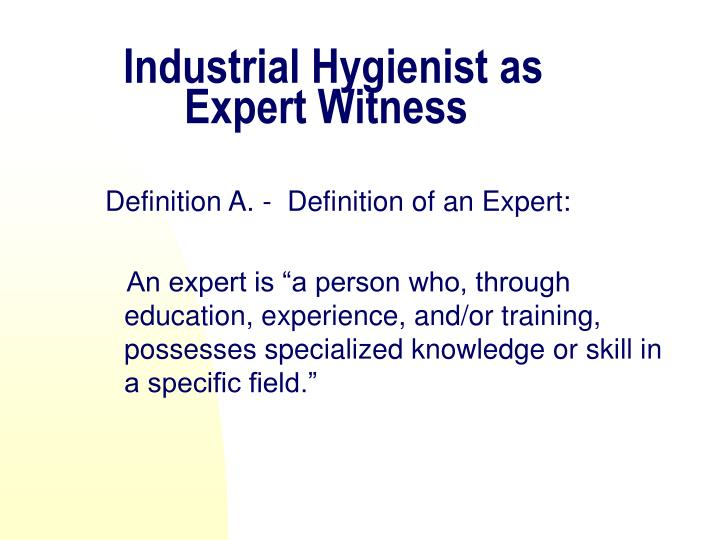 Industrial Hygienist as