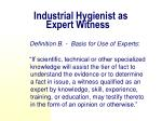 industrial hygienist as expert witness1