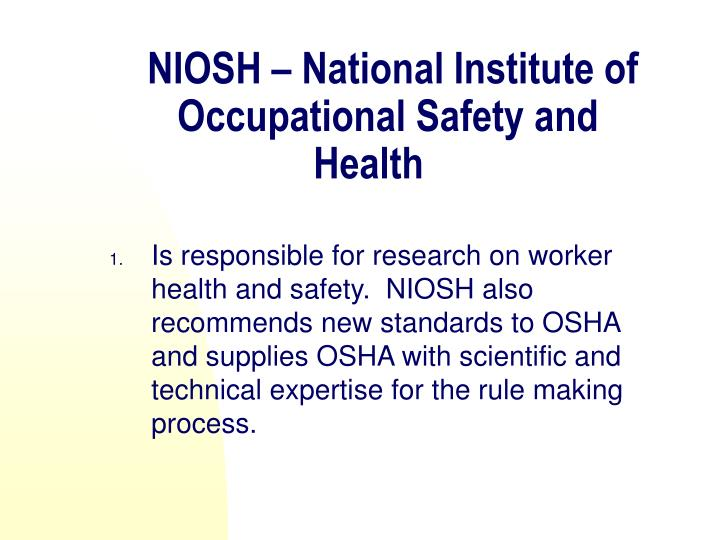 NIOSH – National Institute of