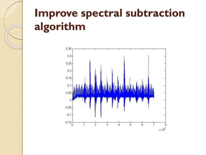 Improve spectral subtraction algorithm