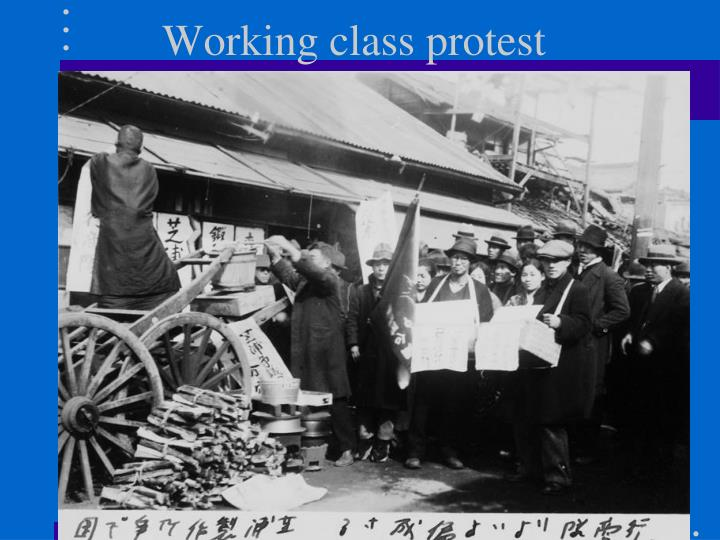 Working class protest