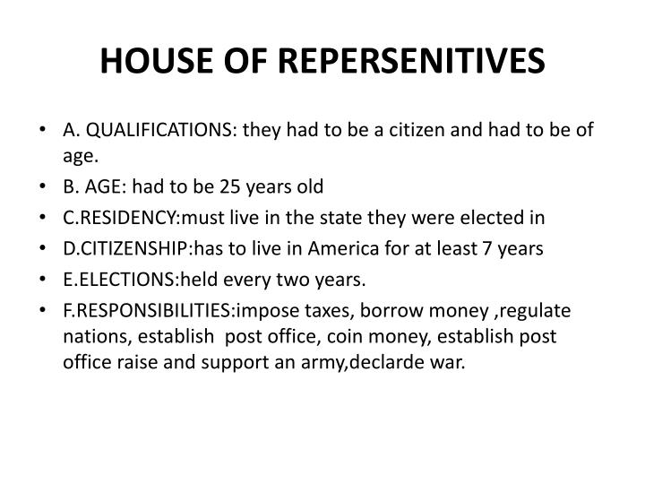 House of repersenitives