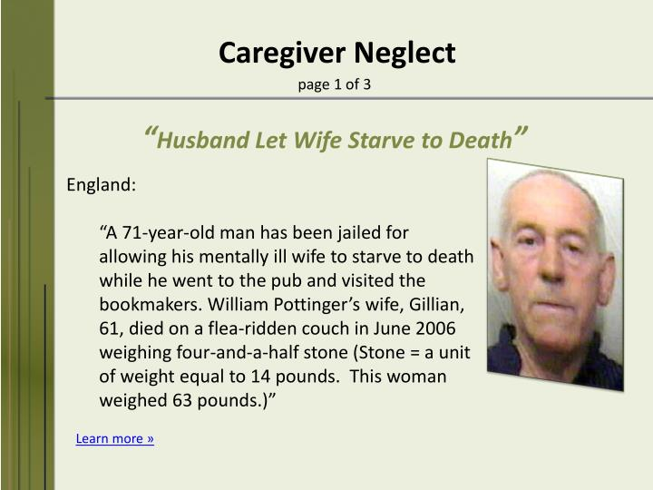 Caregiver Neglect