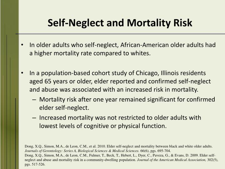 Self-Neglect and Mortality Risk