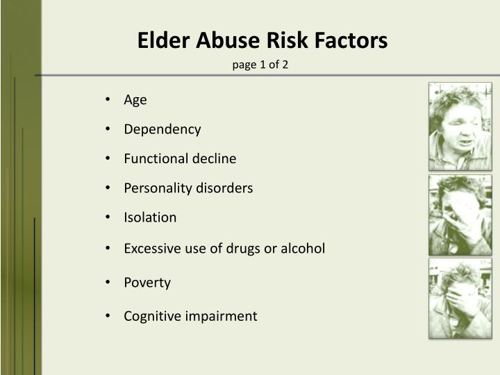 Elder Abuse Risk Factors