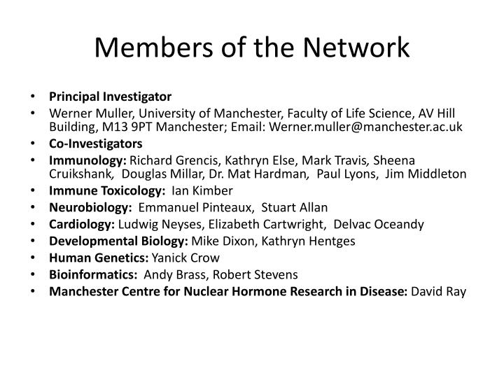 Members of the network