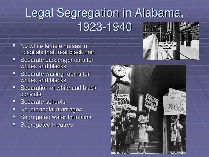 Legal Segregation in Alabama, 1923-1940