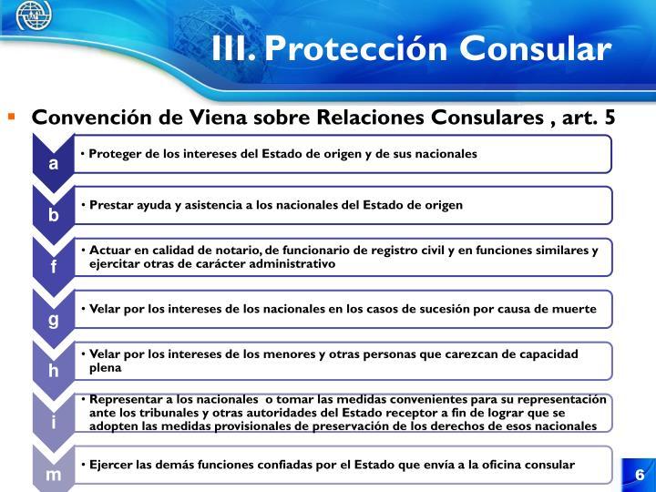 III. Protección Consular