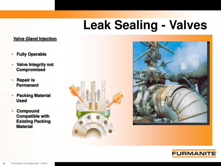 Leak Sealing - Valves