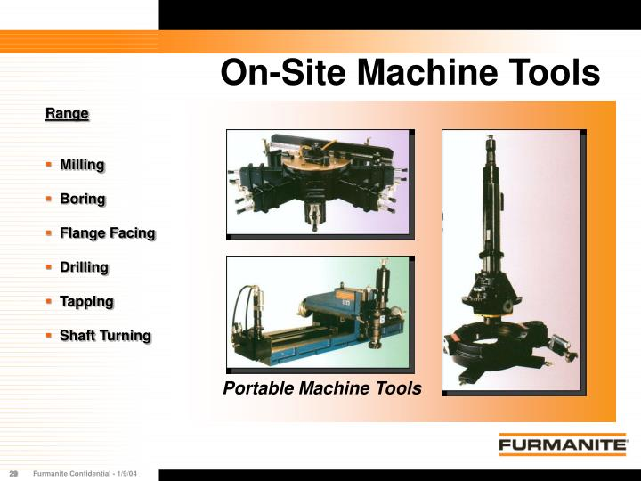 On-Site Machine Tools