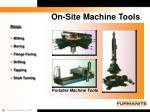 on site machine tools