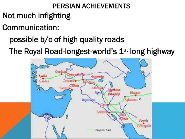 Persian achievements