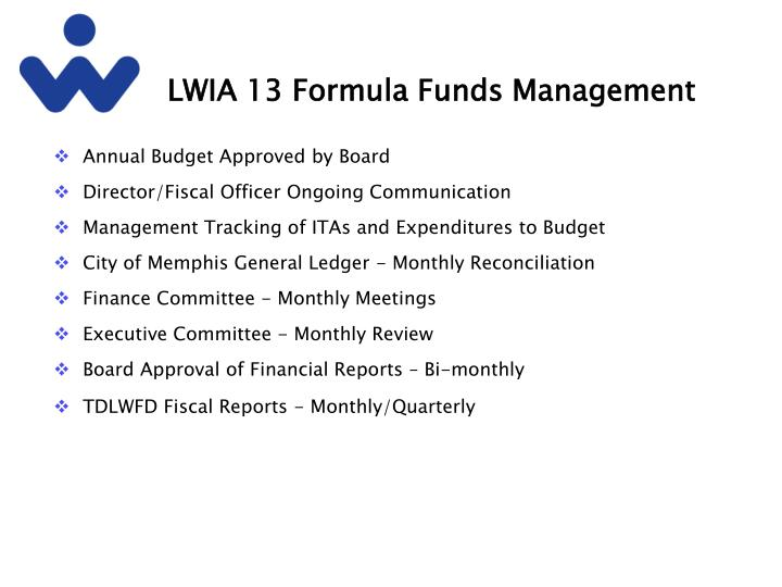 Lwia 13 formula funds management
