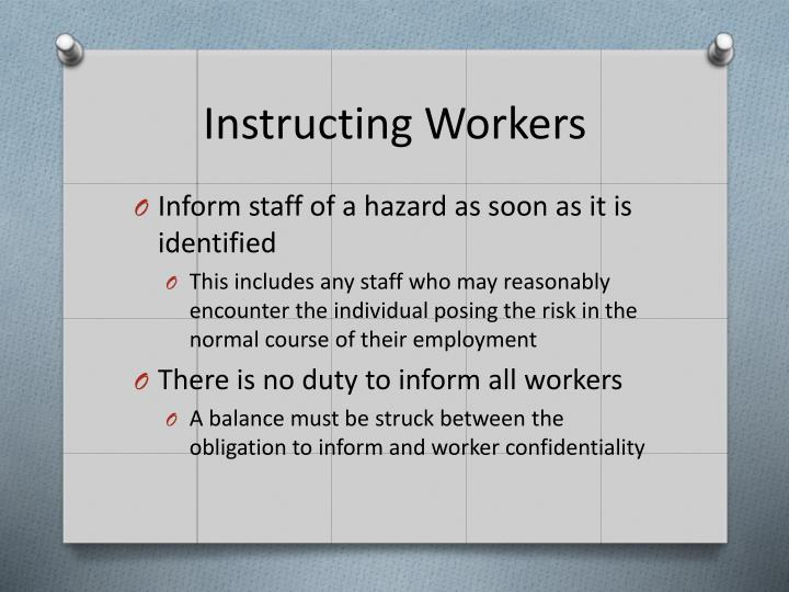 Instructing Workers