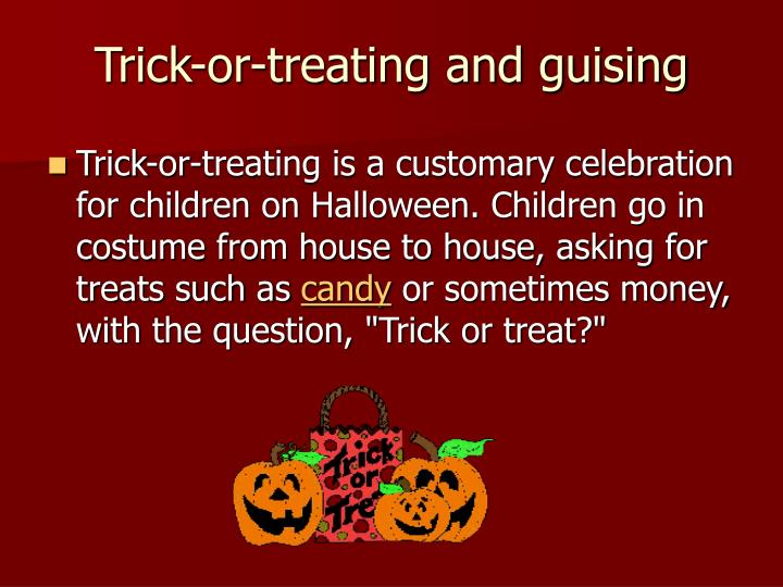 Trick-or-treating and guising