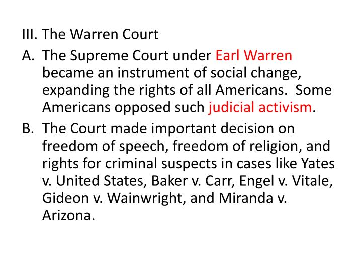 III. The Warren Court