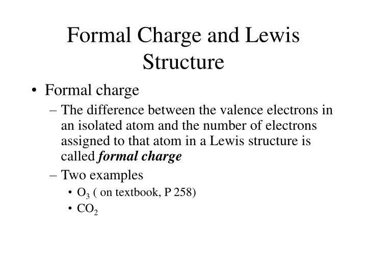 Formal Charge and Lewis Structure
