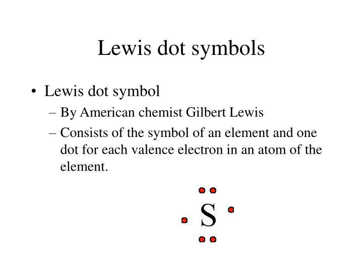 Lewis dot symbols