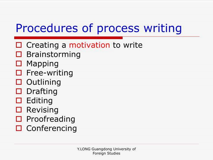 Procedures of process writing
