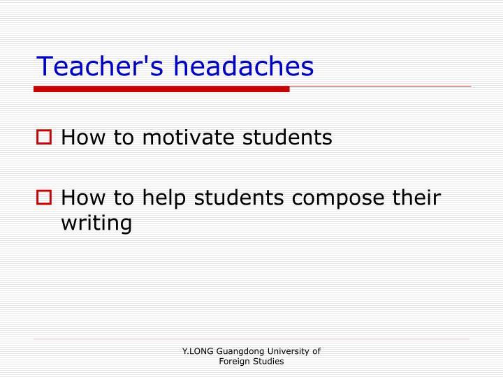 Teacher's headaches