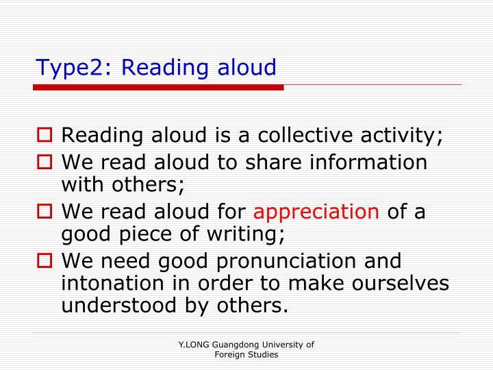 Type2: Reading aloud