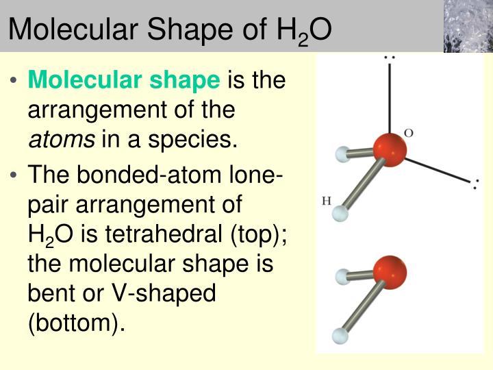 Molecular Shape of H