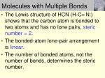 molecules with multiple bonds