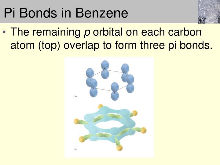 Pi Bonds in Benzene