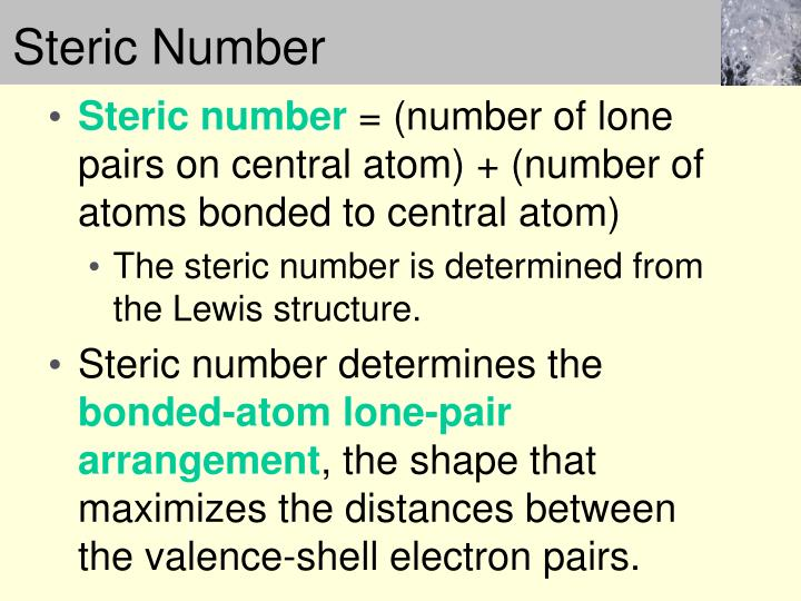 Steric number