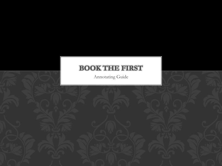 Book the first