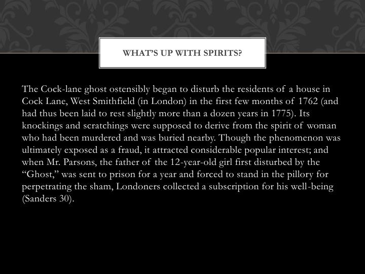 What's up with spirits?