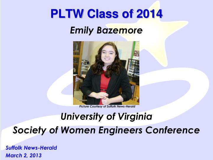 PLTW Class of 2014