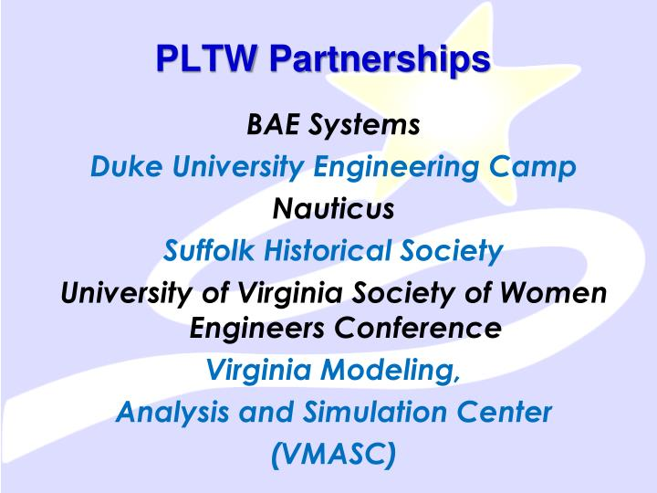 PLTW Partnerships
