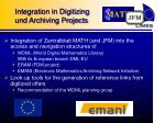 integration in digitizing und archiving projects