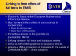 linking to free offers of full texts in emis