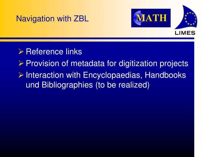 Navigation with ZBL