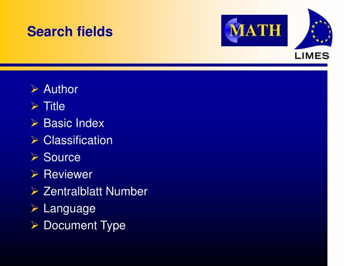 Search fields