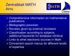 zentralblatt math aims