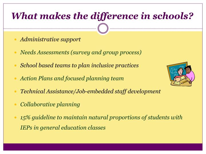 What makes the difference in schools?