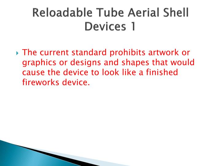 Reloadable Tube Aerial Shell Devices 1