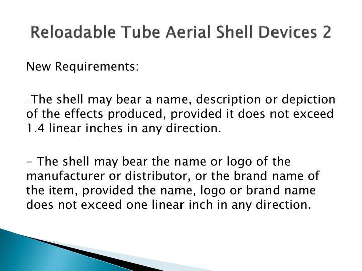 Reloadable Tube Aerial Shell Devices 2
