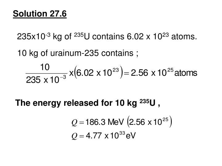 Solution 27.6
