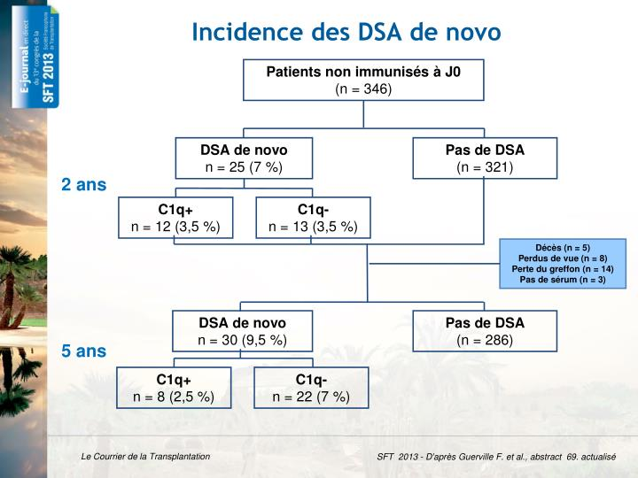 Incidence des DSA de novo