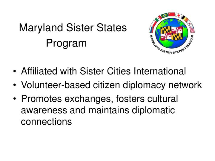 Maryland Sister States