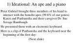 1 ideational an ape and a piano